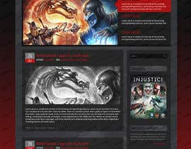 #3 untuk Design a Homepage Mockup for video game website oleh creativecorp