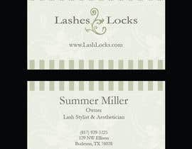 #30 untuk Design some Business Cards for eyelash / hair extensions oleh francescooliva
