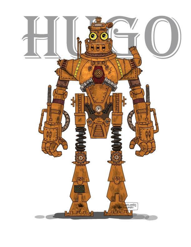 Cartoon Characters As Robots : Steampunk robot cartoon character illustration freelancer