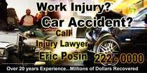 Graphic Design Kilpailutyö #43 kilpailuun Design a billboard for Injury Attorney Eric Posin