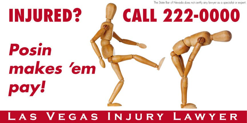 Contest Entry #                                        115                                      for                                         Design a billboard for Injury Attorney Eric Posin