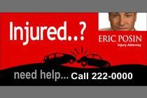 Bài tham dự #25 về Graphic Design cho cuộc thi Design a billboard for Injury Attorney Eric Posin