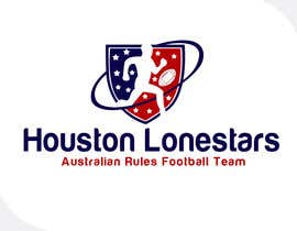 nº 161 pour Logo Design for Houston Lonestars Australian Rules Football team par e2developer