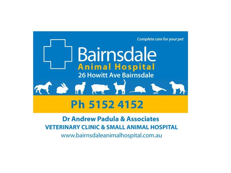 Inscrição nº 22 do Concurso para Graphic Design for Bairnsdale Animal Hospital