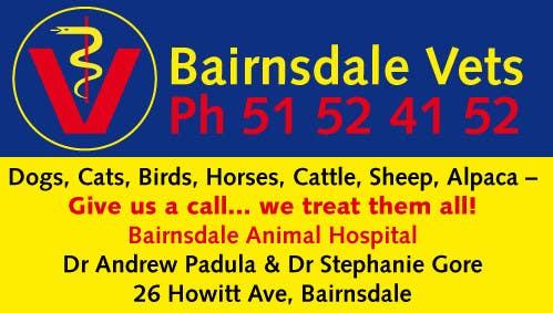 Inscrição nº 3 do Concurso para Graphic Design for Bairnsdale Animal Hospital