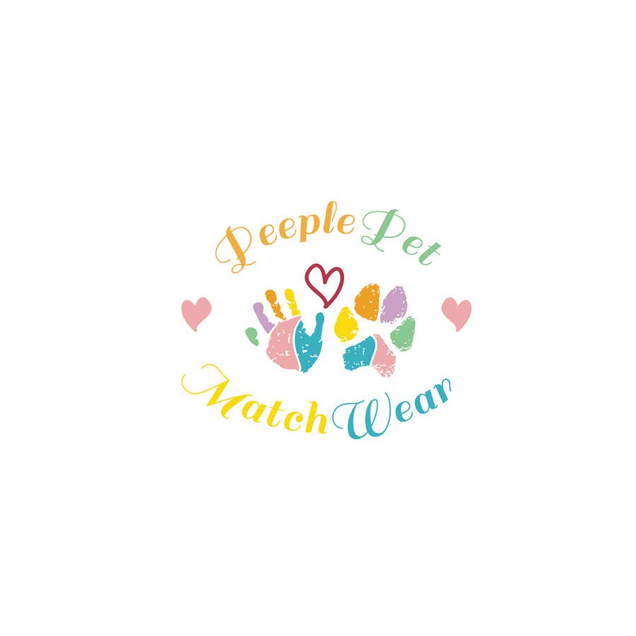 Inscrição nº                                         10                                      do Concurso para                                         Create custom Logo with my toddler hand print and dog paw print in colors with heart and font of letters