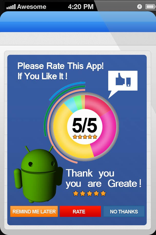 #22 for Rating Motivation Screen for Android App by MagicalDesigner