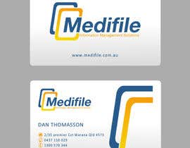 #40 para Design some Business Cards for Medifile por catalinorzan