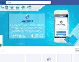 #23 for Facebook Cover for Newly Launched Global App - WorkApp by achrafdjaidja