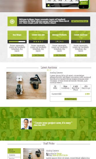 Entry 2 By Brijrajs76 For Auction Site Template Bootstrap Freelancer