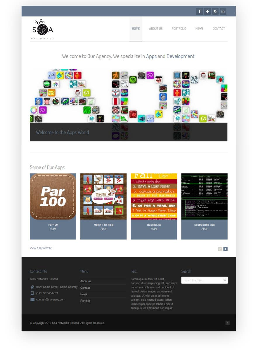 Bài tham dự cuộc thi #2 cho Design a Website for SOA Networks