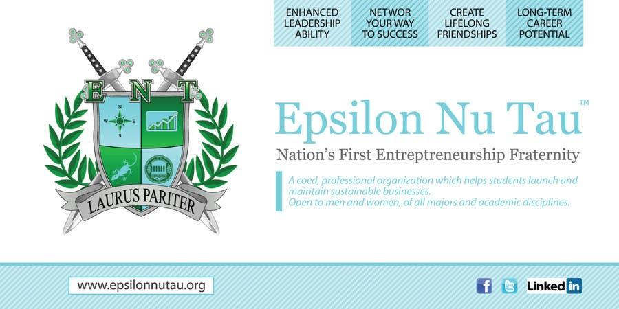 Kilpailutyö #8 kilpailussa Design a Epsilon Nu Tau Fraternity Table Banner