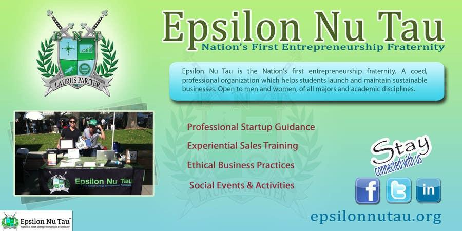 Proposition n°12 du concours Design a Epsilon Nu Tau Fraternity Table Banner