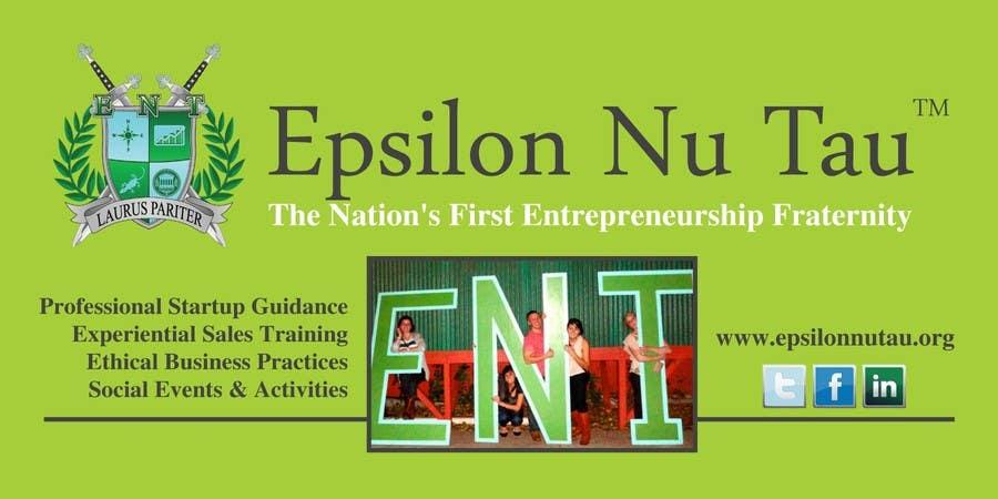 Kilpailutyö #4 kilpailussa Design a Epsilon Nu Tau Fraternity Table Banner