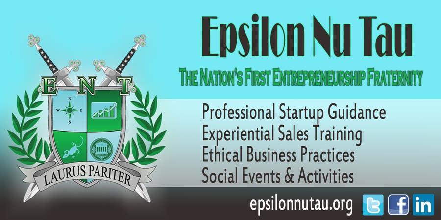 Kilpailutyö #7 kilpailussa Design a Epsilon Nu Tau Fraternity Table Banner
