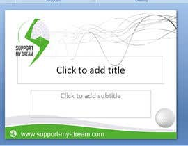 #2 para SMD - Layout for ppt-presentation of Dream/Golf Website por mgliviu
