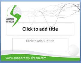 nº 12 pour SMD - Layout for ppt-presentation of Dream/Golf Website par mgliviu
