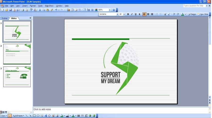 Inscrição nº                                         1                                      do Concurso para                                         SMD - Layout for ppt-presentation of Dream/Golf Website