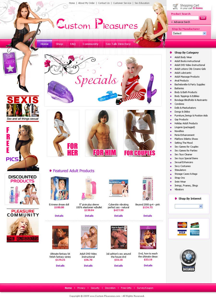 #9 for Design an amazing front page for an adult toys website. by Pixaart