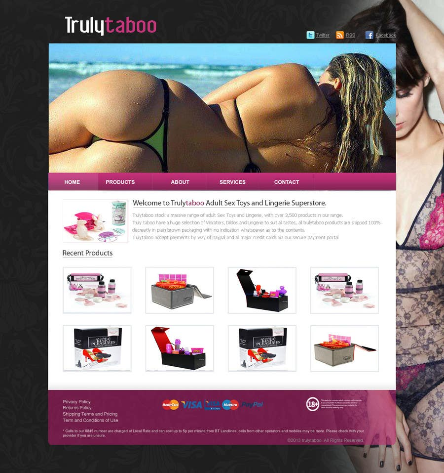 #5 for Design an amazing front page for an adult toys website. by ismayelcom