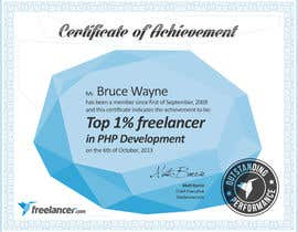 #44 cho Design Freelancer.com's new Achievement Certificate bởi lubinlouis