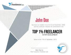 #23 cho Design Freelancer.com's new Achievement Certificate bởi NatzMendoza