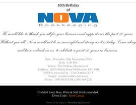 nº 2 pour Business 10th Birthday Invitation par souravds87