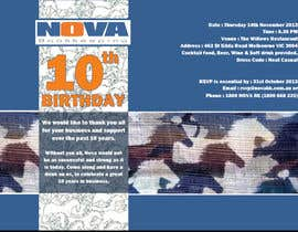 #9 for Business 10th Birthday Invitation af cinzwillis