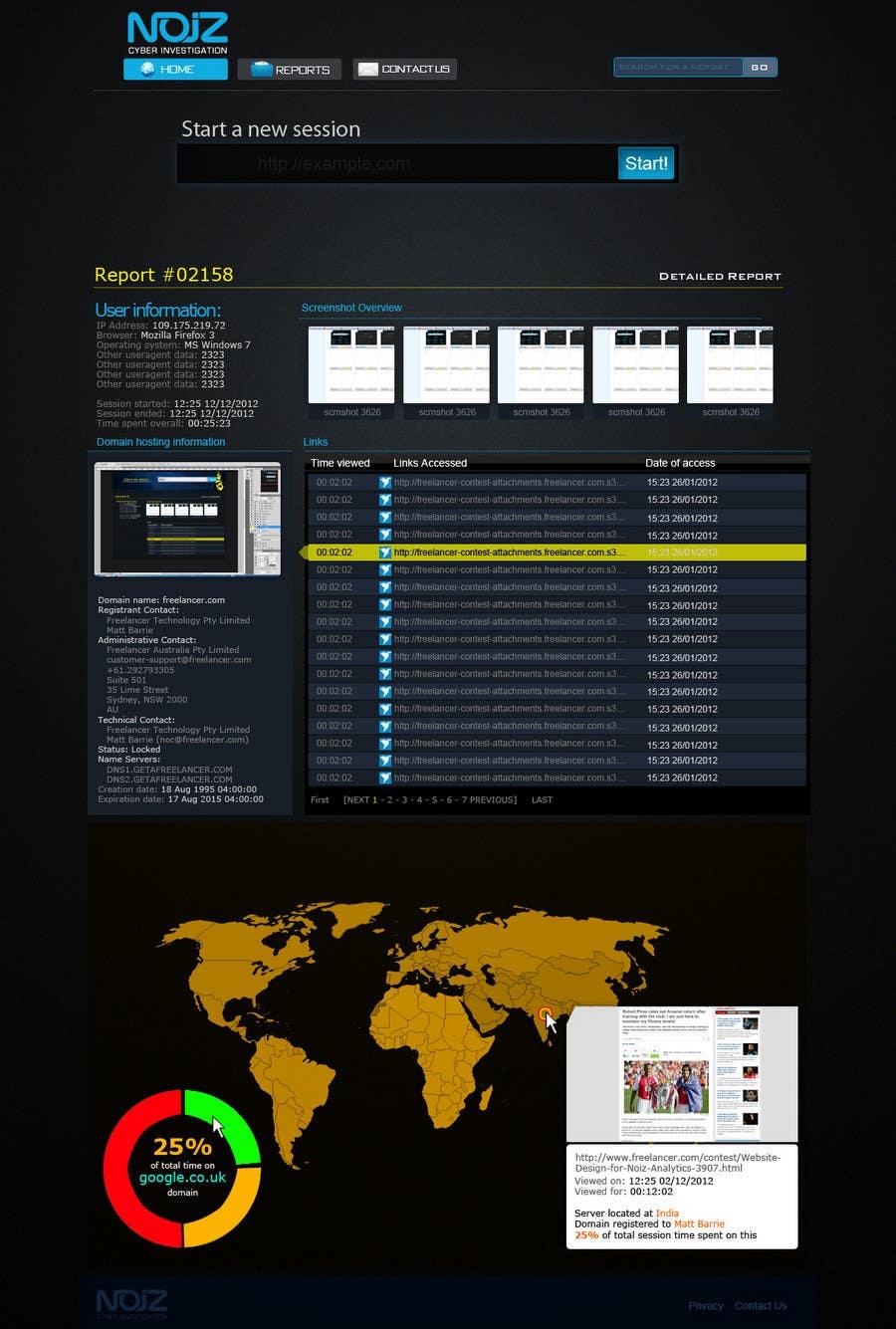 Contest Entry #                                        74                                      for                                         Website Design for Noiz Analytics