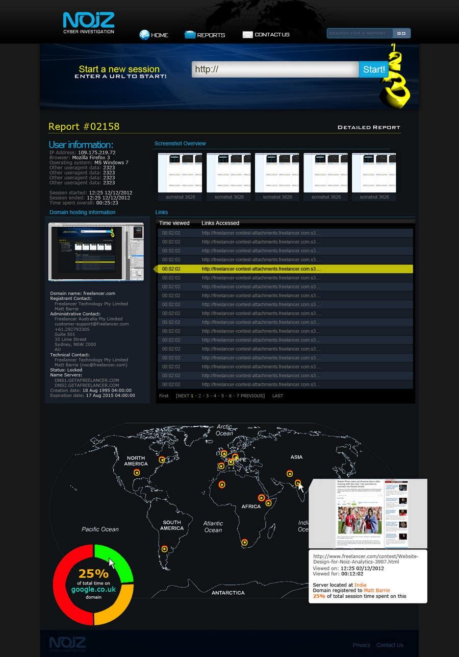 Contest Entry #                                        46                                      for                                         Website Design for Noiz Analytics