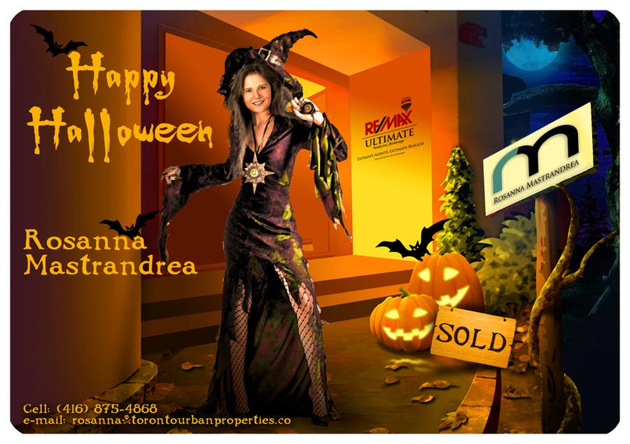 #14 for Design a Halloween postcard for a real estate agent by Spector01