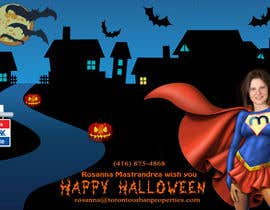 #19 untuk Design a Halloween postcard for a real estate agent oleh AlinutaM