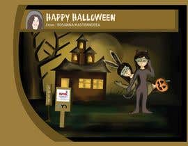 #26 untuk Design a Halloween postcard for a real estate agent oleh syifafauziah