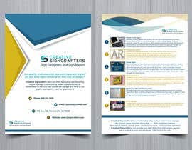 #9 para Design a Brochure for a Sign Company de MariaDzx