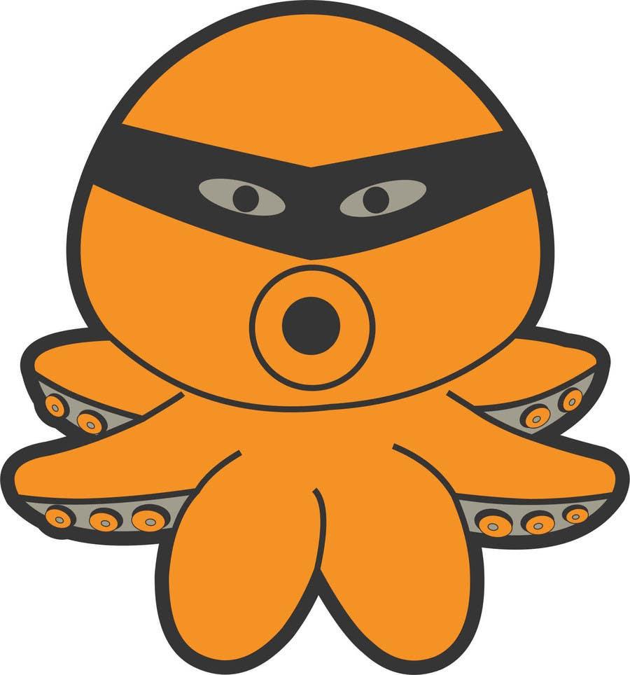 Příspěvek č. 6 do soutěže Design a bandit mask wearing octopus!