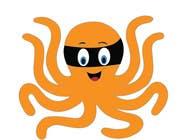 Illustration soutěžní návřh č. 12 do soutěže Design a bandit mask wearing octopus!