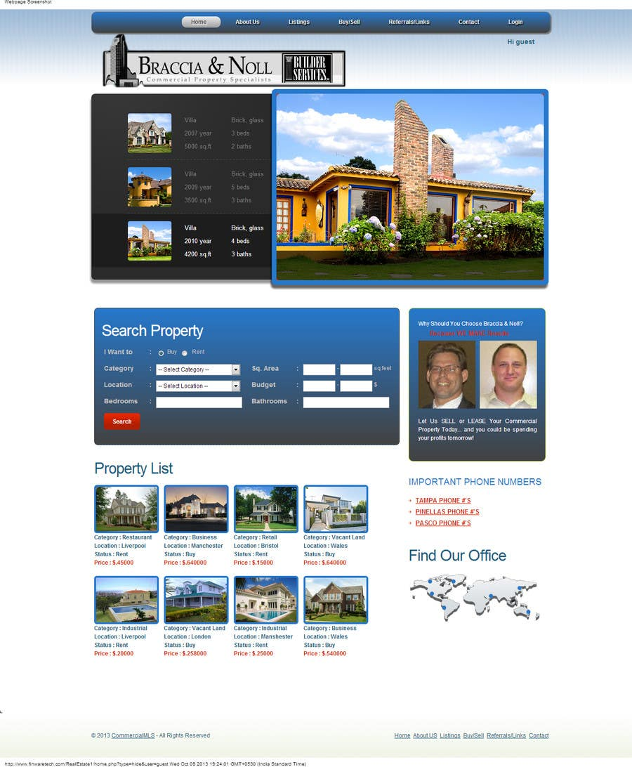 #21 for Build a Website for www.Commercialmls.net real estate website by finwaretech