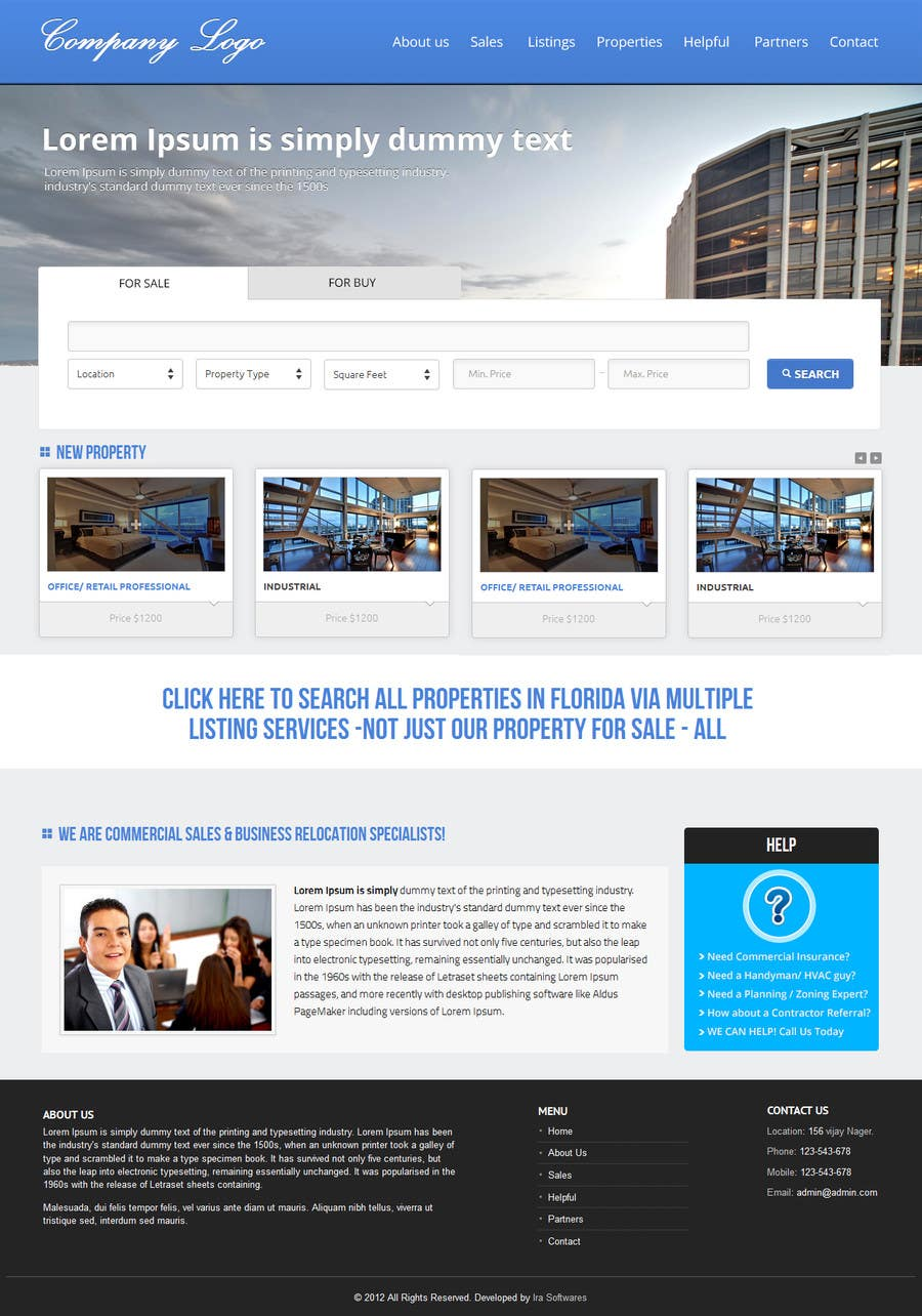 #13 for Build a Website for www.Commercialmls.net real estate website by nittilegupta