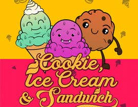 #14 for Cookie iceacream sandwich logo designed. In pop art/ comic theme by Bateriacrist