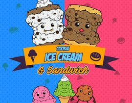 #34 for Cookie iceacream sandwich logo designed. In pop art/ comic theme by Bateriacrist