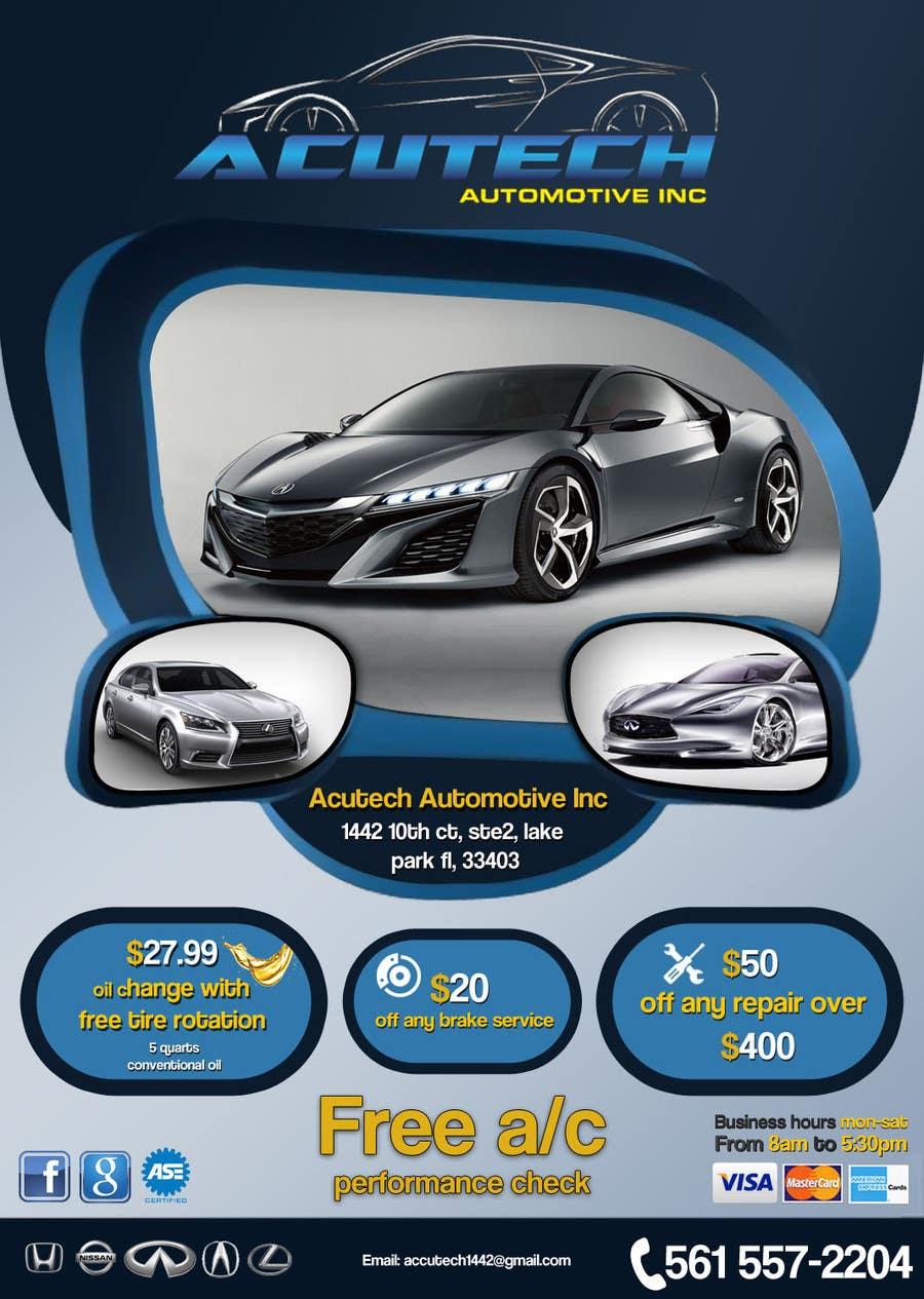 #25 for Design a Flyer for automotive repair shop 4x6 by Artimization