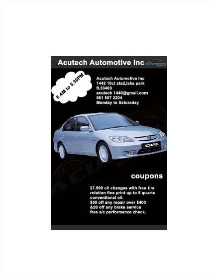 #5 for Design a Flyer for automotive repair shop 4x6 by poojark