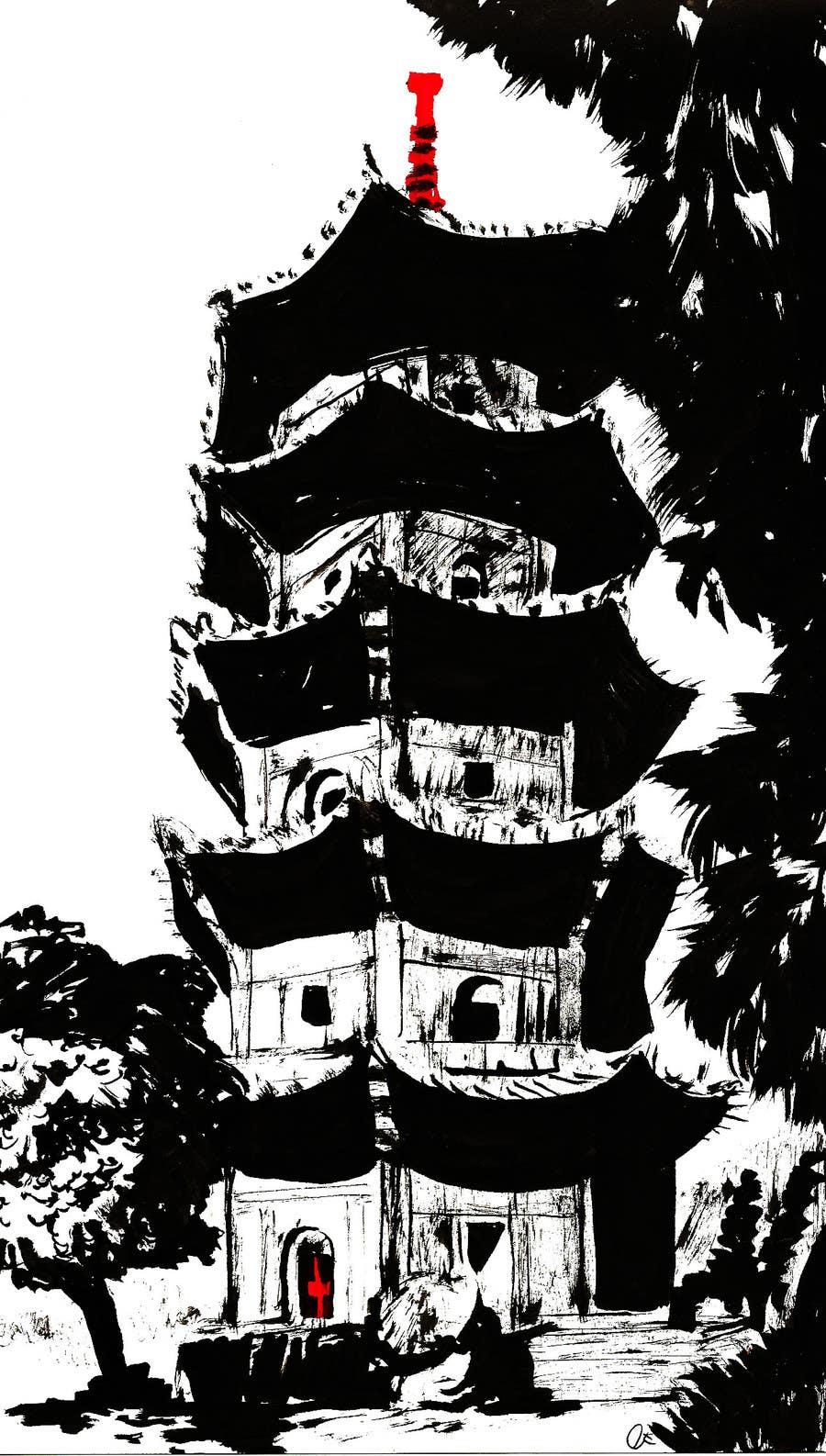 Kilpailutyö #23 kilpailussa B&W Pen & Ink Drawings of Cityscapes Wanted