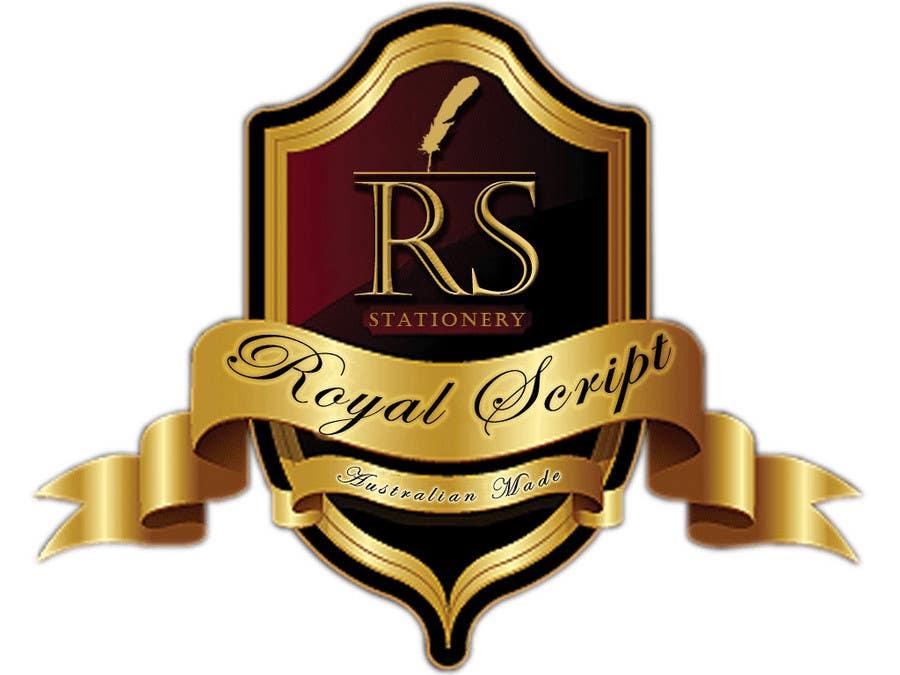 Inscrição nº                                         25                                      do Concurso para                                         Logo Design for Stationery Packaging - Royal Script