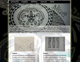 "#4 untuk Design a Website Mockup for ""mytribaldesigns.com"" oleh phik"