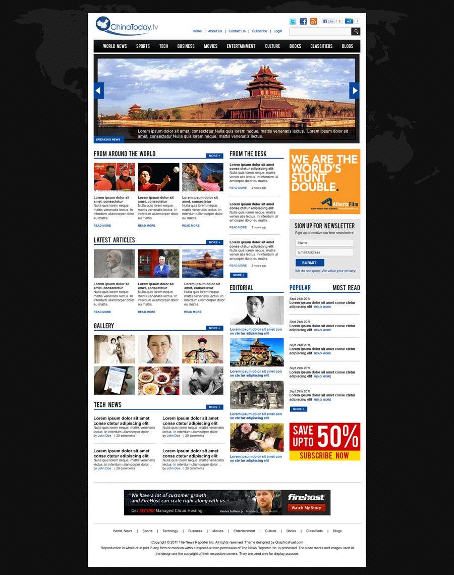 Proposition n°                                        28                                      du concours                                         Website Design for TodayChina.TV