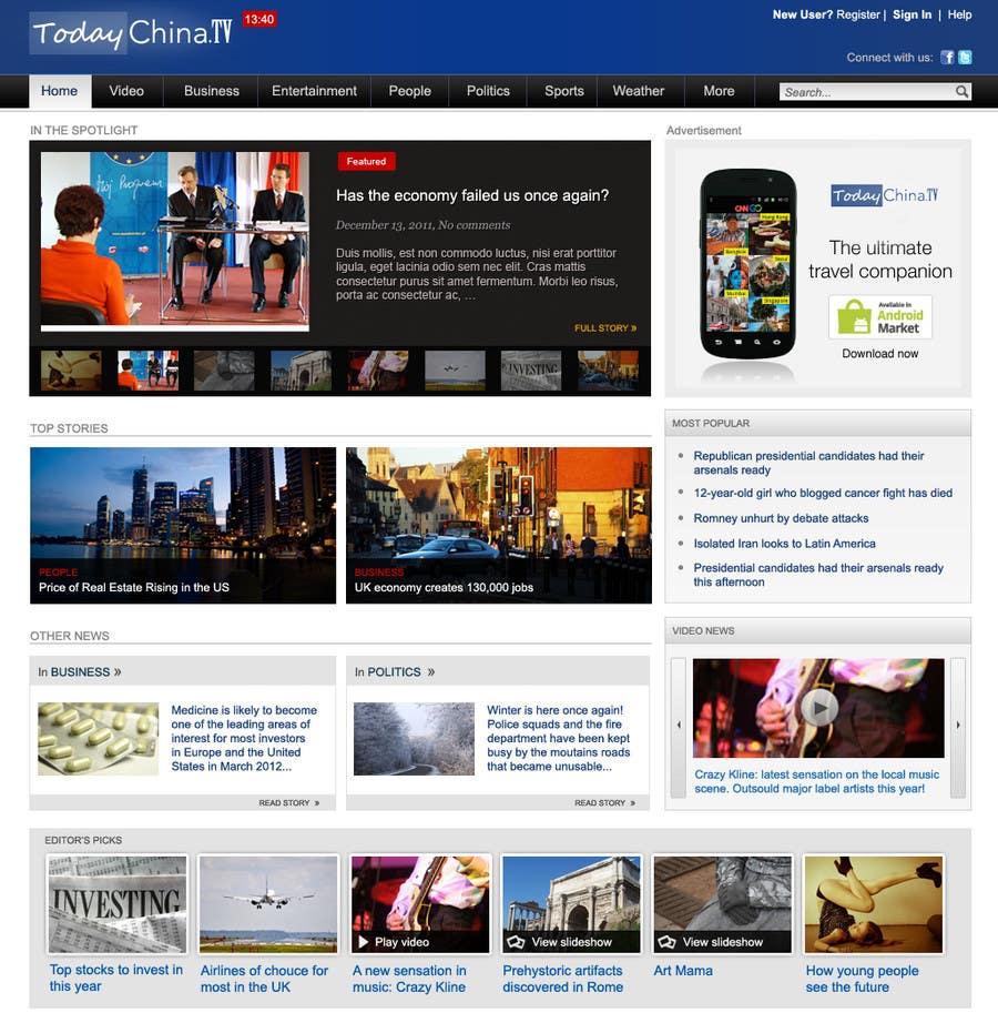 Inscrição nº                                         10                                      do Concurso para                                         Website Design for TodayChina.TV