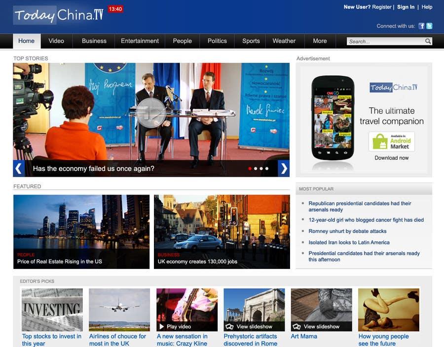 Proposition n°                                        4                                      du concours                                         Website Design for TodayChina.TV