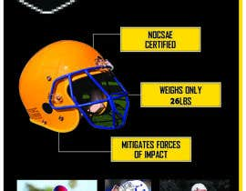 #2 for Design a Brochure for Football Helmets af blackd51th