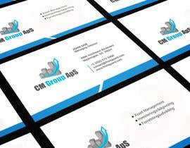 #22 untuk Design nogle Visitkort for CM Group ApS oleh rimskik
